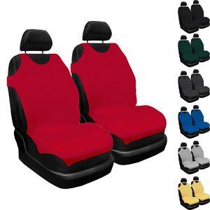2er Set Saferide Autositzbezüge PKW universal Auto vorne 1+1 Schonbezüge Rot