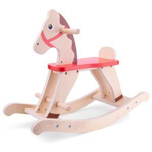 New Classic Toys schaukelpferd Junior 78 x 32 cm Holz klar/rot