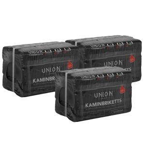 UNION 10kg 18 Stück Kaminbriketts Braunkohlebriketts Klütten für Ofen oder Kamin Gewicht: 30kg