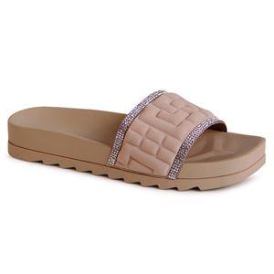 topschuhe24 2097 Damen Plateau Pantoletten Sandalen, Farbe:Braun, Größe:38 EU
