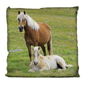 Kissen Kuschelkissen Dekokissen mit Pferd 40 x 40 cm