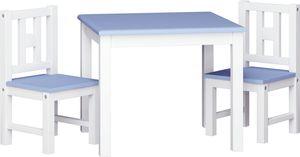 ib style® LUCA COLORS Tischset Kindersitzgruppe Kindermöbel Kindertisch TIsch+ 2 Stühle