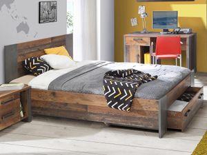 möbelando Bett Jugendbett Bettrahmen Einzelbett Bettgestell Bettanlage Holzbett Celon I 120 x 200 cm