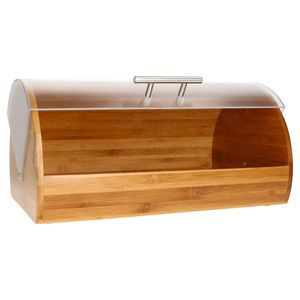 MamboCat Brotkasten I Bambus Holz I Brotbehälter mit Frontklappe I Aufbewahrung