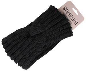 Damen Stirnband Haarband Schleife Winter, Farbe wählen:schwarz