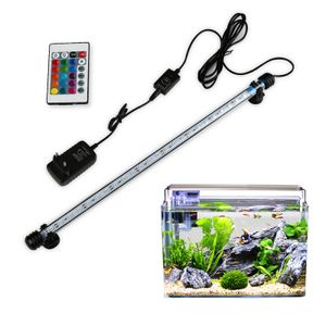 Wolketon LED Aquarium Beleuchtung Fisch Tank Aquarium Lampe Unterwasser RGB 28cm
