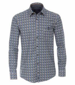 Casa Moda - Casual Fit - Herren Freizeit Hemd mit Kent-Kragen und Muster (403555600), Größe:L, Farbe:Grün (300)