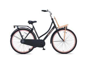 28 ZOLL Damen City Holland Fahrrad HOLLANDFAHRRAD RAD BIKE CITYFAHRRAD DAMENFAHRRAD Omafiets GEPÄCKTRÄGER Frontträger Altec Classic Schwarz PINK