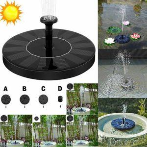 Brunnen Solarbrunnen Teichgarten Solarbrunnen 160L/H +4 Düsentypen Zur Auswahl