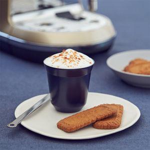 2 Packs von Espresso Tassen Doppel Edelstahl Kaffee Tassen 80Ml Espresso Tassen Tassen Pulver Tassen Kaffee Kapsel Tassen