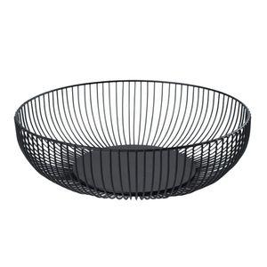 Black Wire Obstschale Arbeitsplatte Ablagekorb Dish Obst Gemüse Ablagekorb Für Küchenarbeitsplatte   11 X 6 X 3 Zoll