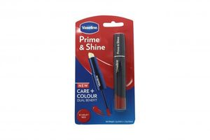 Vaseline Prime & Shine 2-in-1 Lip Balm and Coloured Lip Gloss 3.2ml - Scarlet