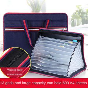 A4 Size File Expanding Folder Organizer Aufbewahrungstaschen Ordner A Dark Blue Größe Ein dunkles Blau