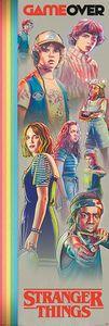 Stranger Things - Game Over - Poster Druck - Größe 53x158 cm