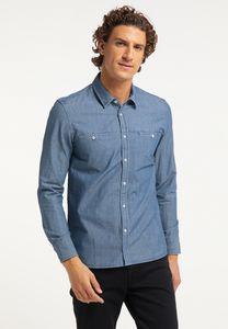 MUSTANG Herren Hemd Jeanshemd Slim Fit Farbe: blau Größe: L