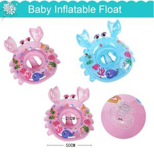 Baby Kids Sicherheits Schwimmring Aufblasbarer Pool Schwimmschwimmer 28*18*5 cm Blau
