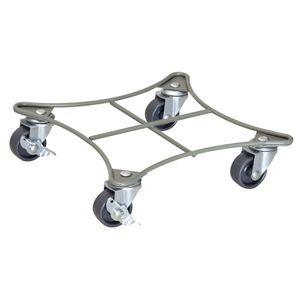 WAGNER Pflanzenroller RETRO STYLE 22 x 22 x 5,5 cm, innen & außen, Stahl, taupe, Bremsen, Tragkraft 60 kg - 20094101