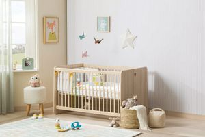 Cilek Montessori Babybett 60x120 cm Natur, Matratze:mit