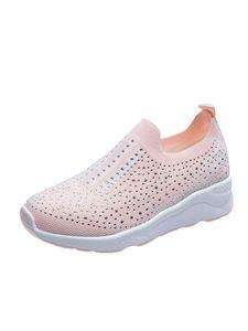 Damen Strass Sportschuhe Training Laufen Freizeitschuhe Atmungsaktive Einzelschuhe,Farbe: Pink,Größe:43