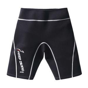 Damen Herren Neoprenanzug Shorts Outdoor Schwimmhose,2mm Neopren Tauchen Neoprenanzug Trunks Hose zum Surfen Schnorcheln Strand Wassersport Farbe Weiß XL