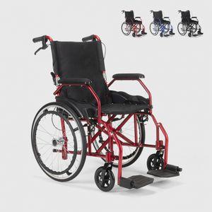 Klappbarer Rollstuhl aus Orthopädischem mit Bremsen Behinderte und Ältere Menschen DasyFarbe: Rot