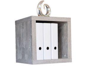 "Regalwürfel Cube Würfelregal Hängeregal Regal Holzregal Beistellregal ""Cubo I"" beton"
