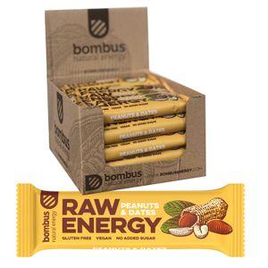 Bombus Fitness Riegel Erdnuss Karton 20 x 50g Vegan Glutenfrei Ohne Zuckerzusatz