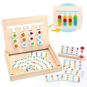 Montessori Spielzeug Holz Puzzle Sortierbox  Kinder Lernspielzeug mit Sanduhr ab 3 4 5 Jahre alte Jungen und Mädchen,(MEHRWEG)