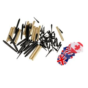 Dartpfeile Darts Pfeile Set für Elektronische Dartscheibe Darts spitzen, Kupfer Darts Fässer, 4 Arten Darts Flights und 48 Ersatz Darts Tips
