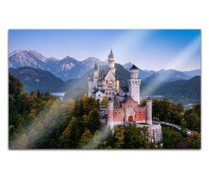 Acrylglasbilder 80x50cm Neuschwanstein Schloss Burg Bayern Acryl Bilder Acrylbild Acrylglas Wand Bild 14H622