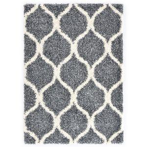 Berberteppich Hochflor PP Blau und Beige 160 × 230 cm