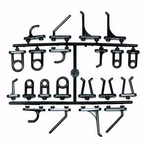 acerto® - 44 Stk. Ersatzhaken Lochwand Werkzeugwand Werkstattwand Werkzeughalter 460x980mm