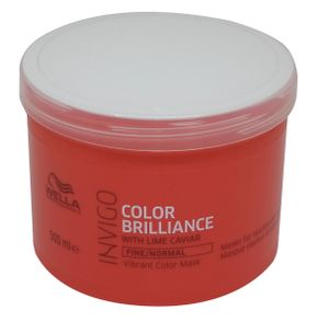 Wella INVIGO Brilliance Maske 500 ml für feines - normales coloriertes Haar