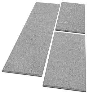 Bettumrandung Dynasty Silbergrau 1 Läufer 67x330 cm + 2 Brücken 67x130 cm