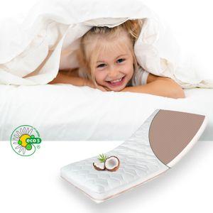 ALCUBE Babymatratze Kindermatratze ECO aus Kokos und Kaltschaum / Atmungsaktive Kokos-Matratze für Babybett oder Kinderbett  80x160 cm ohne Trittkante