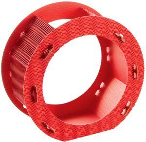 Folia Rundlaternen Rohlinge aus 3D-Wellpappe, Ø 22cm, 1 Stück, rot