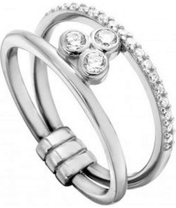 Esprit Damen Ring Play 925 Sterling Silber - ESRG001911, Ringgröße (Durchmesser):53 (16.9 mm Ø)