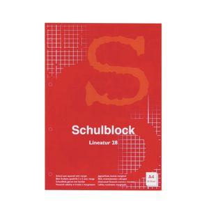 10x Schulblock / Schreibblock / DIN A4 / Lineatur 28 (kariert)