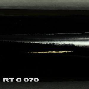(6,57€/m²) Rapid Teck® Premium Autofolie Hochglanz Schwarz 152 cm Breite Laufmeterware Glanz selbstklebende Folie mit Luftkanälen Auto Folie glänzend