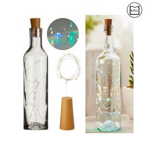 1x 8 LED Flaschenlicht mit Korken, bunt, ca. L75cm Batterie Flaschenlichterkette