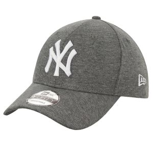 New Era Jersey 9Forty Adjustable Cap NY YANKEES Dunkelgrau Weiß, Size:Onesize