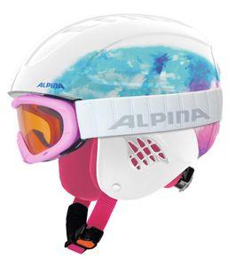 Alpina Kinder Skihelm Snowboardhelm CARAT SET Gr. 48-58 cm, periwinkle, Größe:48-52