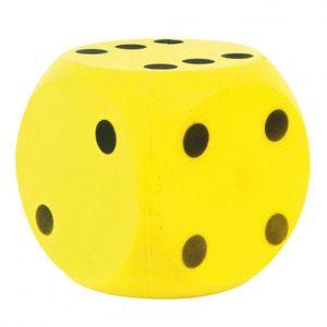 Großer Kinder Softwürfel 16cm Schaumstoffwürfel Würfel Gelb schwarze Punkte