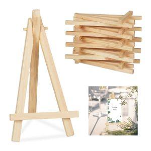 relaxdays Staffelei klein aus Holz 10er Set