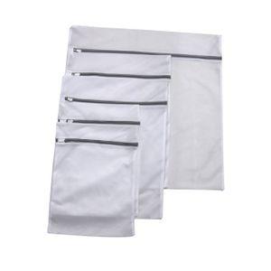 RAIKOU Wäschenetz für Waschmaschine 5 Stück Set feinmaschige Wäschesack Wäschetasche Waschbeutel mit Reißverschluss, Aufbewahrung und Reise