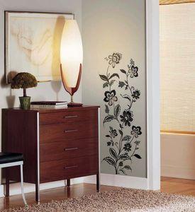 Wandsticker Blumenranken schwarz