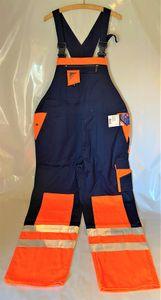ENGEL Latzhose orange/marine Nr. 3605-425 Arbeitshose Arbeitsschutz Hose Arbeit, Größe:48