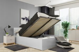 Bett mit Lattenrost Jugendbett Doppelbett ohne Matratze Bettkasten 120x200