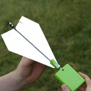 DIY Einschalten Fold Elektromotor Papier Flugzeug Flugzeugmodul Lernspielzeug Kit