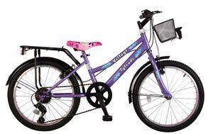 20 ZOLL Kinder City Mädchen Fahrrad Kinderfahrrad Mädchenfahrrad Cityrad Rad Bike 7 Gang Beleuchtung Shimano Voltage Lady LILA TY2021